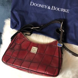 Deep red leather Dooney and Bourke